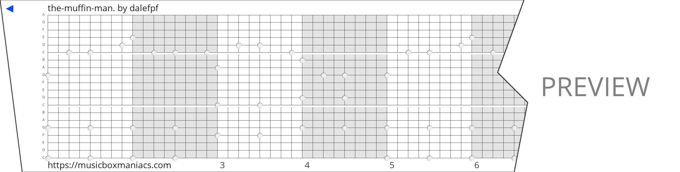 the-muffin-man. 20 note music box paper strip