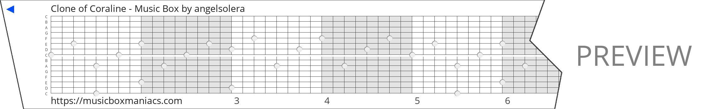 Clone of Coraline - Music Box 15 note music box paper strip