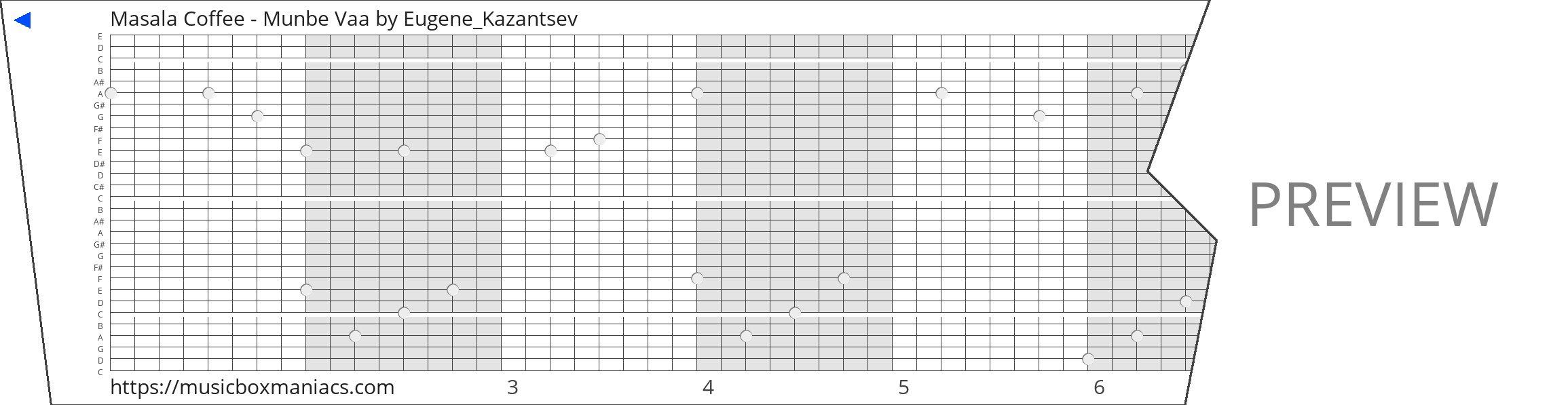 Masala Coffee - Munbe Vaa 30 note music box paper strip