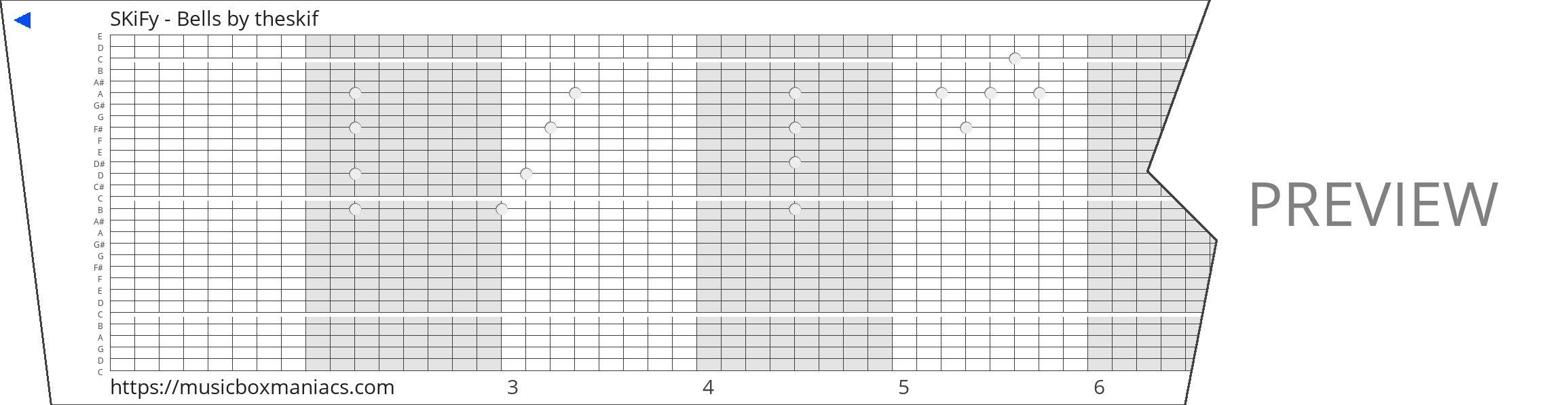 SKiFy - Bells 30 note music box paper strip